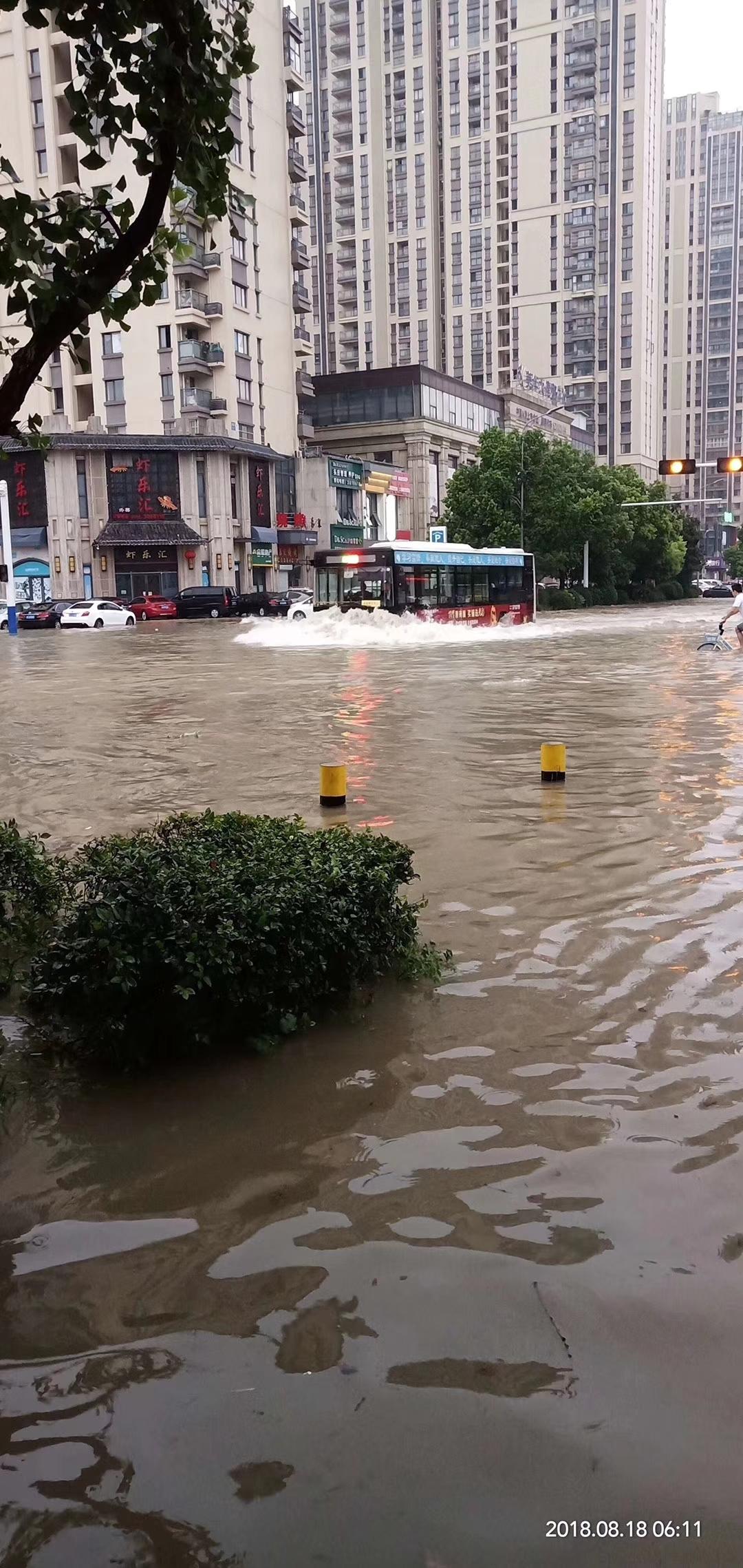 蚌埠多路段出现严重积水 最新路况发布!