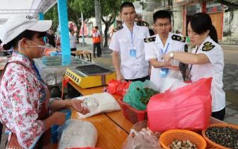 港口区食品药品监督管理局护航北部湾开海节