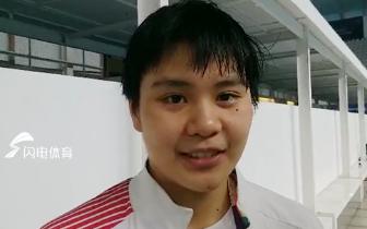 13岁山东游泳小将亚运摘银 赛后羞涩接受采访