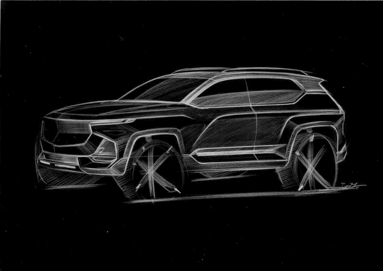 造型酷似星脉 宝骏全新SUV设计草图曝光