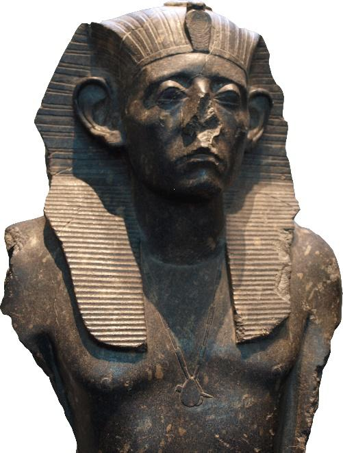 总是一脸忧虑的塞索斯特里斯三世雕像,第十二王朝文物
