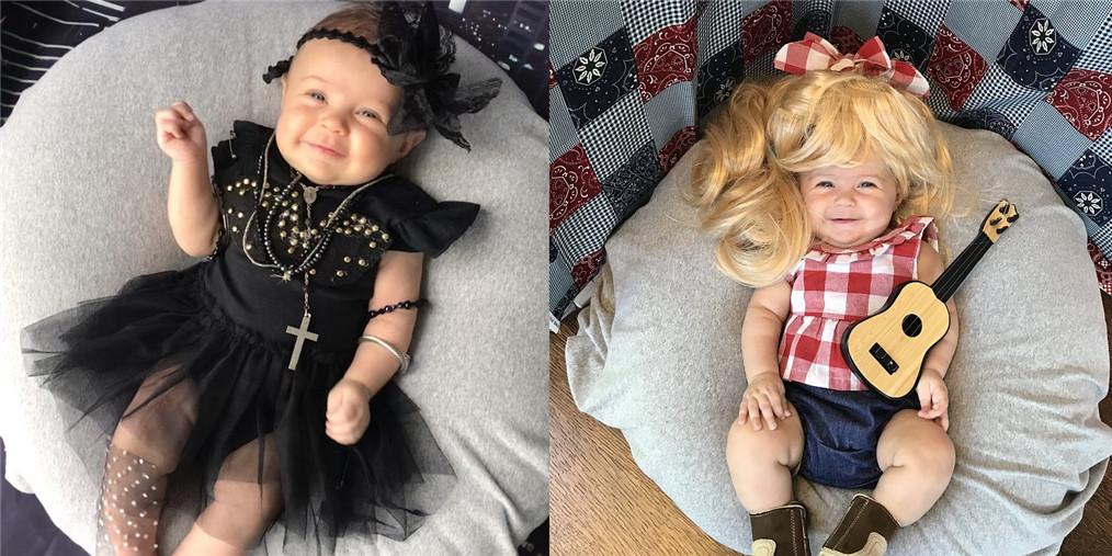 美国妈妈为4个月大的女儿拍创意写真