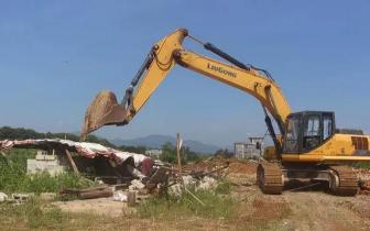 围观 防城港那良镇9间违法建筑被依法拆除