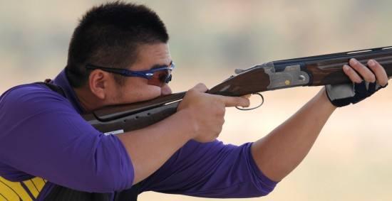 亚运射击男子飞碟双向 科威特夺冠中国金迪摘银