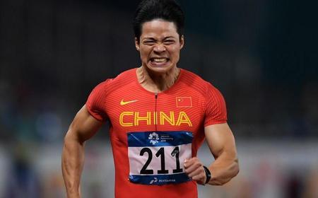 苏炳添夺得亚运会男子百米冠军