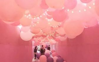 抱歉我有公主病!夏日少女必拍粉红泡泡气球展