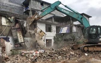 新生街改造最新进展!1100多平方米居民自建房被拆