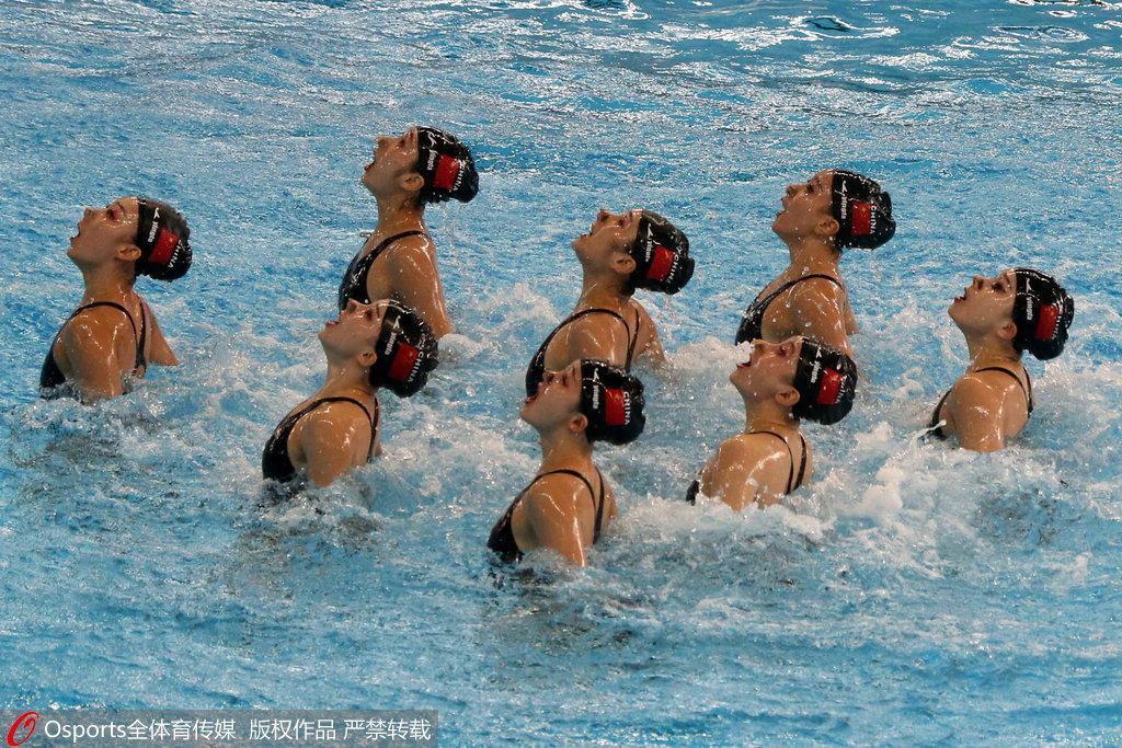 中国喜提第100金!花游集体赛中国力压群芳夺冠