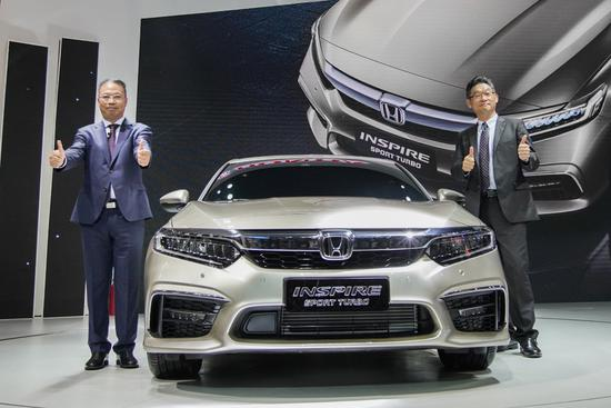 INSPIRE量产车发布  东风Honda强大阵容亮相成都车展