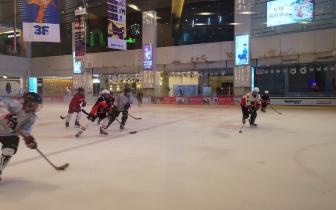 福州青少年烈焰狼冰球队U6正式成立 平均年龄8岁