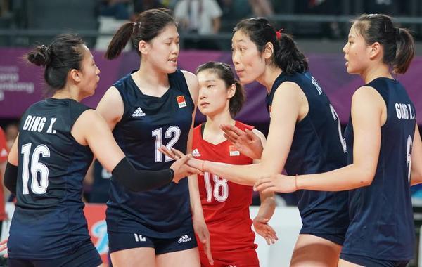 亚运中国女排完胜泰国夺冠