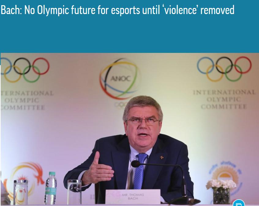 巴赫给电竞入奥判死刑:杀人游戏与奥林匹克价值观不符