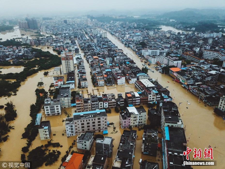 惠东白花镇水灾救援现场 多部门连夜奋战