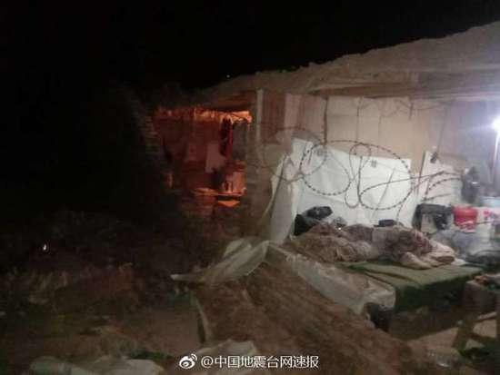 新疆喀什地区伽师县发生5.5级地震 震源深度8千米