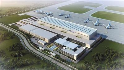 北京新机场亚洲最大机库封顶 面积有5个足球场大