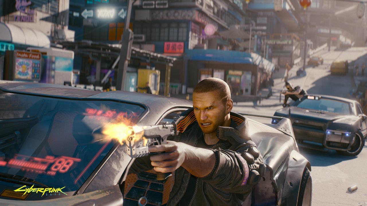 《赛博朋克2077》放了一张游戏截图 随后又把它删了