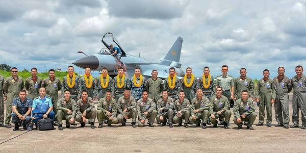 中国空军歼10A战机赴泰举行联合演习