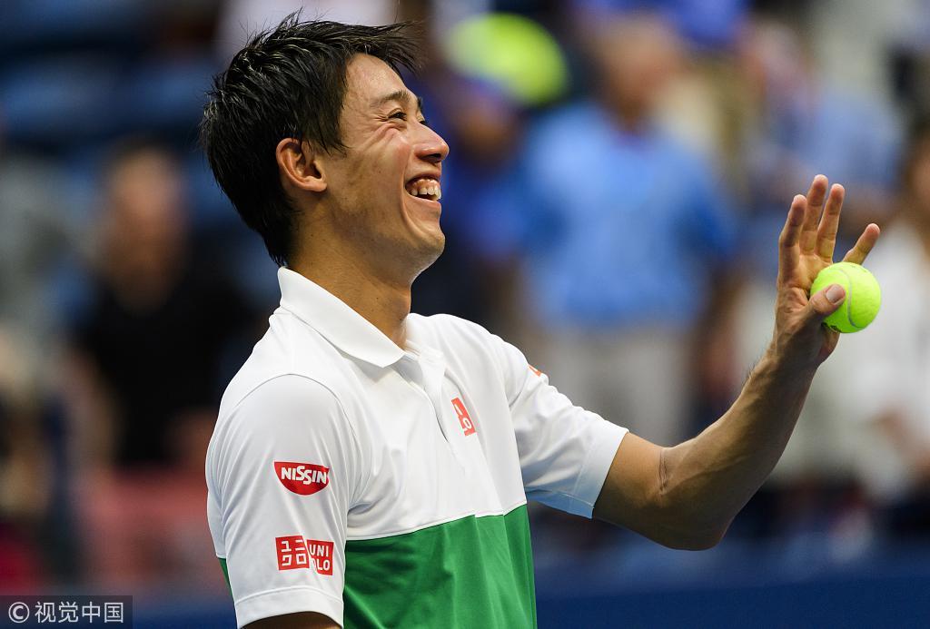 锦织圭激战五盘逆转西里奇 五年三进美网半决赛