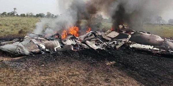 印度米格27坠机现场图曝光