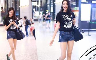 张梓琳的腿美得真实
