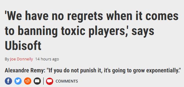 育碧官方对恶意言论零容忍 封禁恶意玩家并不后悔