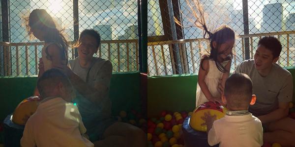 陈露晒照:孙悦与儿女嬉闹 享受难得亲子时光