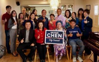 美国马州劳工节游行 华裔候选人为期中选举造势