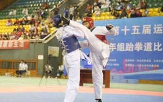 跆拳道少年激战中山体育馆 石家庄队成赢家
