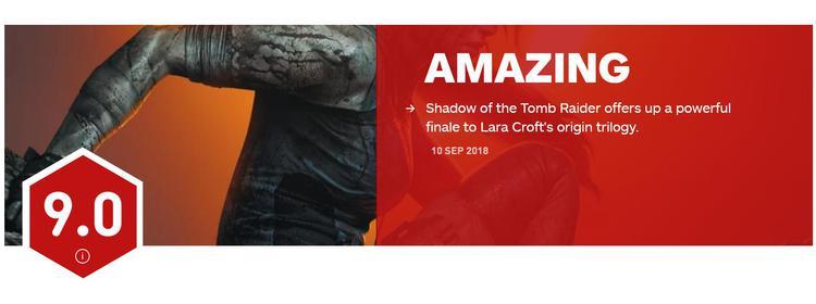 爱玩游戏早报:《古墓丽影:暗影》IGN评分出炉 皮卡丘限定NS主机公布