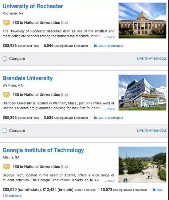 2019U.S.News 出炉 你的学校今年排名涨了吗?