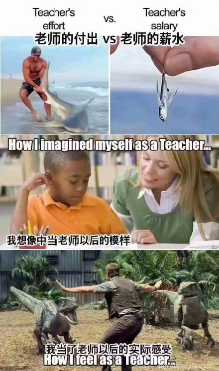 轻松一刻:如果您能看到,老师祝您节日快乐!