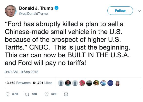 评论:让福克斯在美生产 证明特朗普不了解汽车业
