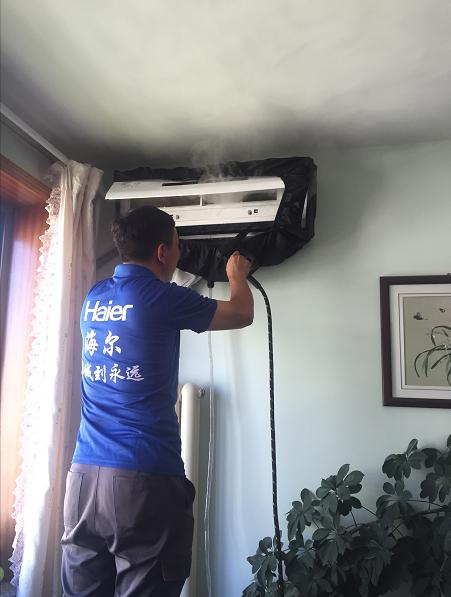 感恩教师节:海尔空调公益为教师洗空调