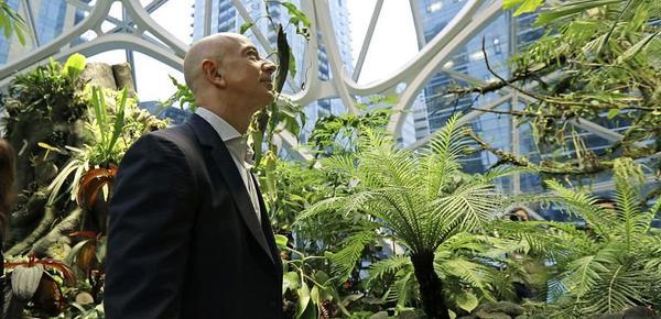 亚马逊市值破万亿美元 揭世界首富的办公楼!