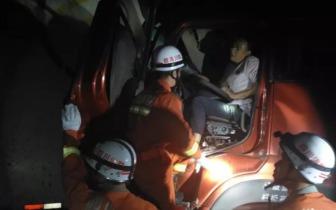 成南高速时隔20小时再次发生车祸遂宁消防紧急救援