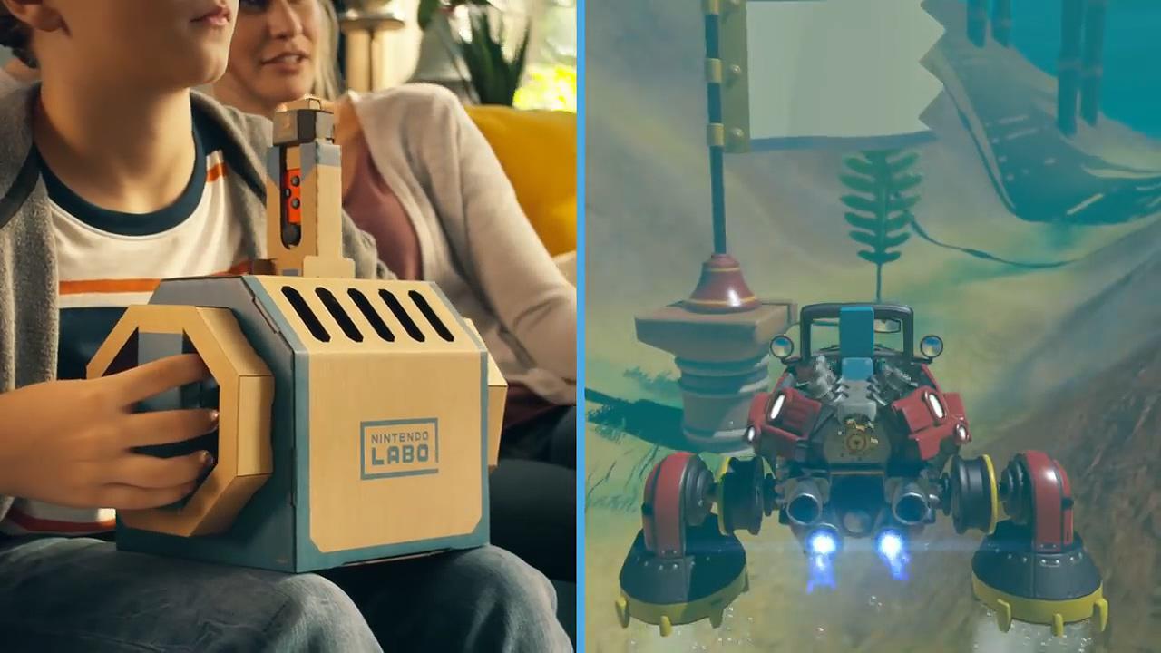任天堂Labo Vehicle Kit套件新宣传片 海陆空三栖任你驰骋