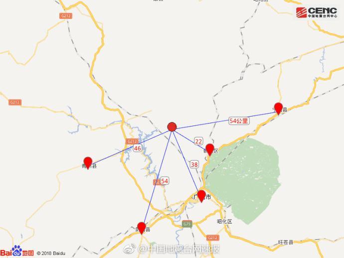 陕西汉中市宁强县发生5.3级地震 震源深度11千米