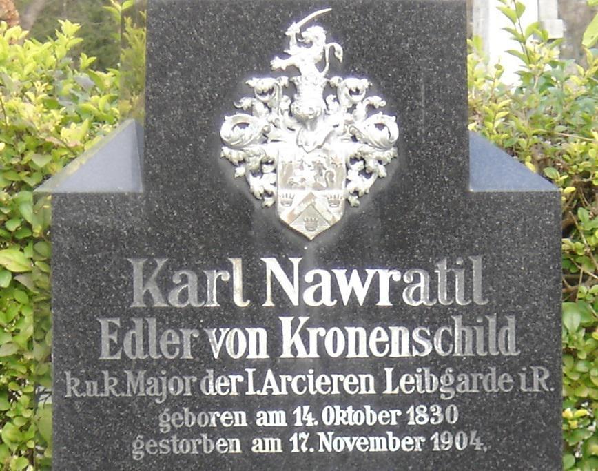 """奥匈帝国陆军少校""""冯?皇冠之盾""""的墓碑"""
