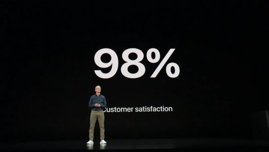 库克:iPhone排名全球第一,客户满意度98%
