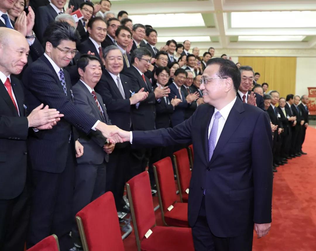 李克强会见日本经济代表团:积极推进中日韩自贸区和RCEP谈判进程