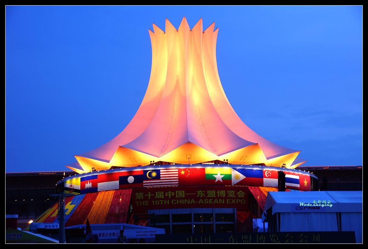 何辛幸唐云舒率河池代表团参加中国-东盟博览会