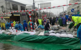 溪水急涨!国道324线司马桥受台风影响实行封闭