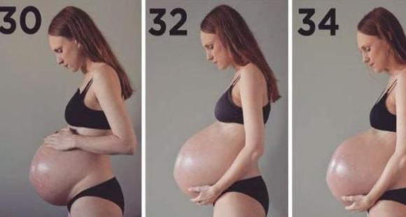 当妈真不容易!怀三胞胎肚子会大成啥样?