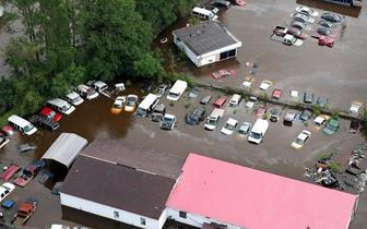 """""""佛罗伦斯""""袭美引灾难洪水北卡内陆成泽国"""