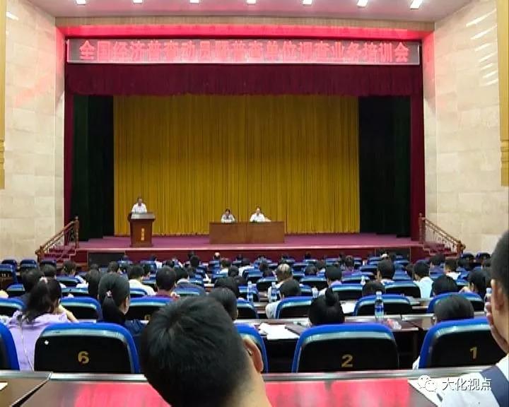 大化召开第四次全国经济普查动员、业务培训会