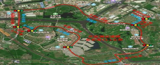 安亭开放测试道路示意图 图片来自网络