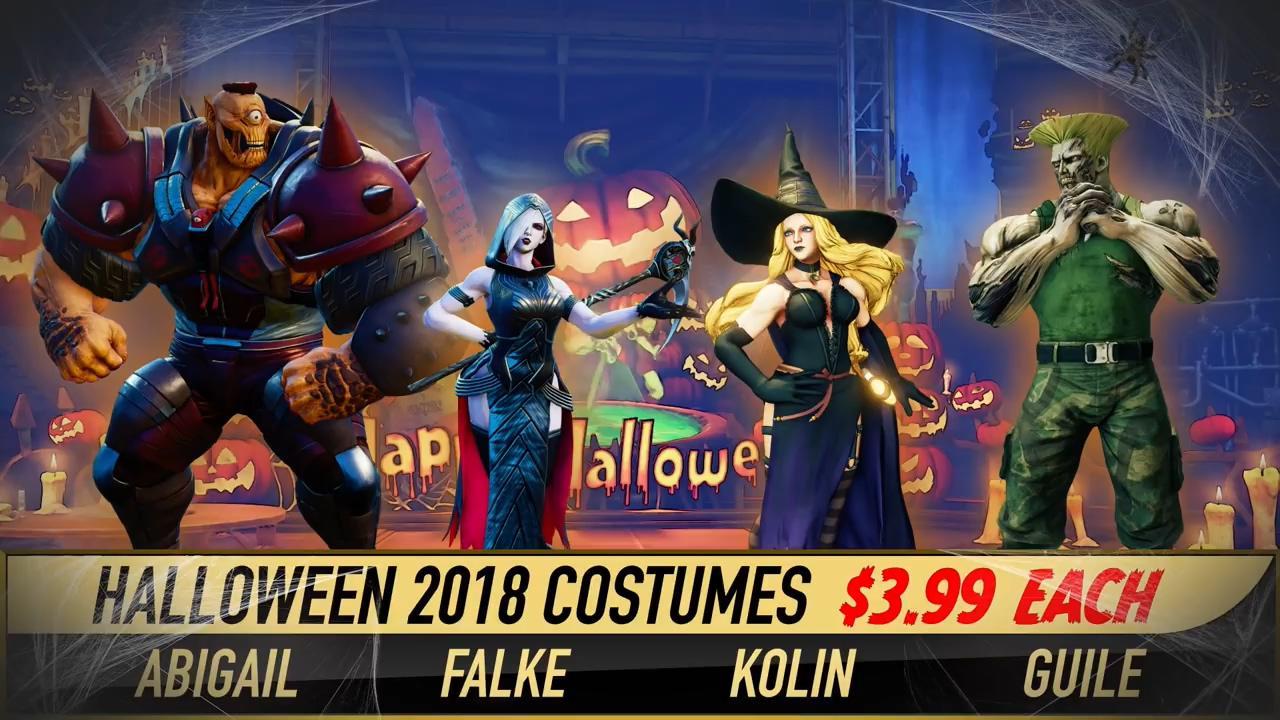 《街霸5》2018万圣节DLC放出 女巫独眼巨人颇有节日气氛