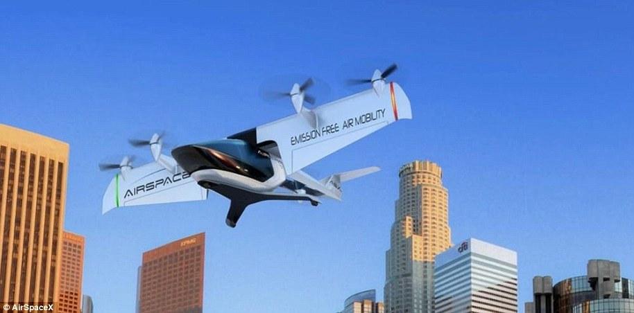无人飞行出租车打算四年内推出?时速320公里