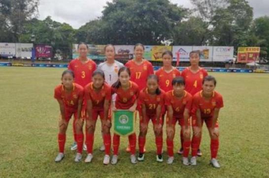 U16女足亚预赛-中国17-0斯里兰卡 2战全胜轰37球