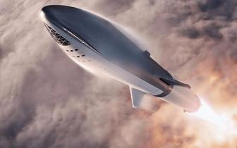 SpaceX火箭太空船概念图 将送日本富豪绕月